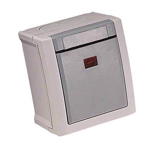 Viko Interruptor de control para ambientes húmedos, color gris Pacific 90591023-DE