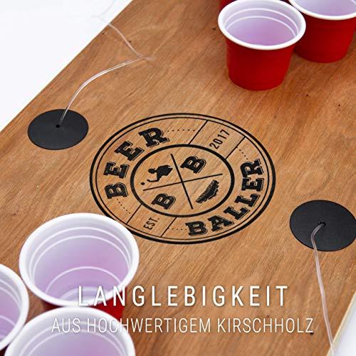 BeerBaller® Shot Pong Cherry – Beer-Pong als Shot Version! | TRINKSPIEL NEUHEIT 2020! | Ideal für Partys, Vorglühen, Festival, JGA oder als Geschenkidee - 5