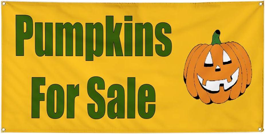 Vinyl Banner Multiple Sizes Pumpkins for Washington Mall excellence Business Sale Halloween
