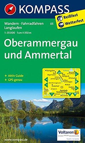 Oberammergau und Ammertal: Wanderkarte mit Aktiv Guide, Radwegen und Loipen. GPS-genau. 1:35000 (KOMPASS-Wanderkarten, Band 5)