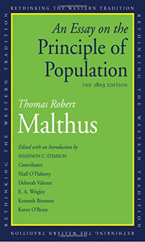 Malthus, T: Essay on the Principle of Population: The 1803 Edition (Rethinking the Western Tradition)