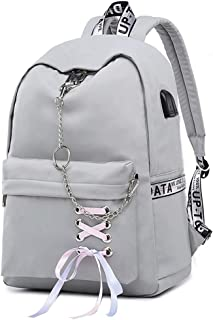 Backpacks for Teen Girls, School Backpack with USB Charging Port 16 Inch Laptop Bag