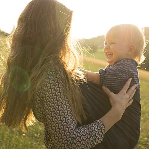 SOVERDE® Tragetuch – Babytragetuch für jede Größe I DUNKELBLAU I Inkl. Deutsche Binde Anleitung I Baby Erstausstattung - 5