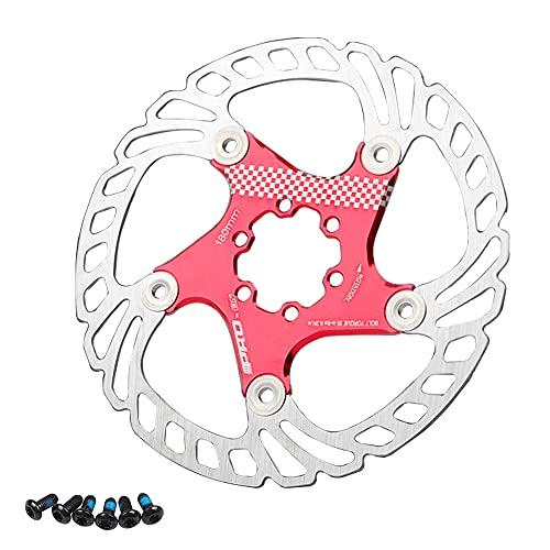 Disco freno per bicicletta, 160 mm, 180 mm, 203 mm, per mountain bike, rotore a disco (rosso 180 mm)