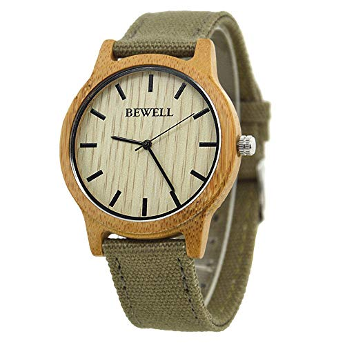 LIGUANGWEN Berühmte Marken-Holz-Uhr Digital Bamboo Uhr Männer Frauen-Uhr-Männlichen Uhren Luxus Relogio Masculino Feminino (Color : Bamboo)