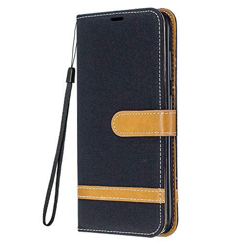 Yiizy Funda para Samsung Galaxy S21fe, Carcasa Galaxy S21 Lite Funda de Cuero con Tapa, Fundas para Tarjeteros de Crédito, Cierre Magnético Silicona Protector Estuche Samsung S21fe, S21 Lite (Negro)