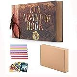 Nuestro libro de aventuras Pixar Up hecho a mano DIY álbum de recortes familiar, retro álbum, álbum de recortes de aniversario