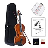 Aileen Violin 4/4 Full Size for Beginners with Fingerboard Sticker, User Manual, Hard