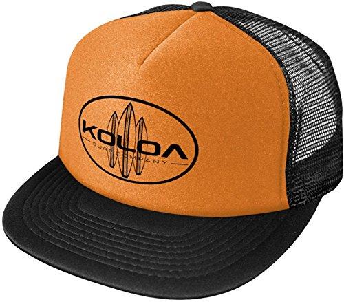 Koloa Surf Classic Surfboards High Profile Poly-Foam Trucker Hat-Orange/b