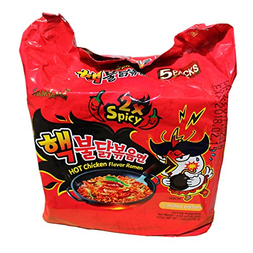 Super Angebot! 80x140g Samyang Doppel 2xHot Chicken Ramen Nudeln Koreanische scharfe Instantnudeln
