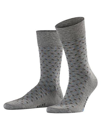 FALKE Herren Socken Sensitive Jabot - 80prozent Baumwolle, 1 Paar, Grau (Steel Melange 3165), Größe: 43-46