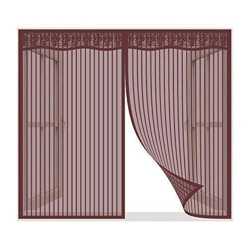 Mosquito magnético ventana de red, anti mosquito cortina magnética malla con marco completo de cinta auto-adhesiva, mosquitera cortina de mosca de malla para puertas de balcón Patio ( Size : 140*150 )