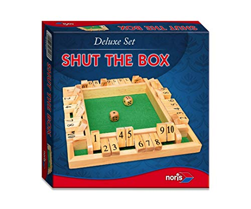 Noris 606108013 606108013-Deluxe Shut The Box, spelklassieker, meerkleurig