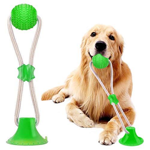 HUHUDAY Ventosa Perro, Juguete Ventosa Perro, Ventosa Interactivos para Perros, Juguete Multifuncional para Mordedura De Molar para Mascotas Juguete, con Ventosa para Masticar, Limpiar los Dientes