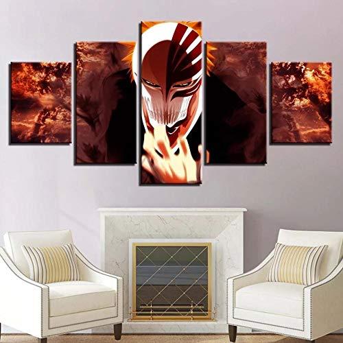 BHJIO 5 Piezas Cuadros Modernos Impresión De Imagen Artística Digitalizada Lienzo Decorativo para Tu Salón O Dormitorio Dios De La Muerte Regalo 150 X 80 Cm.