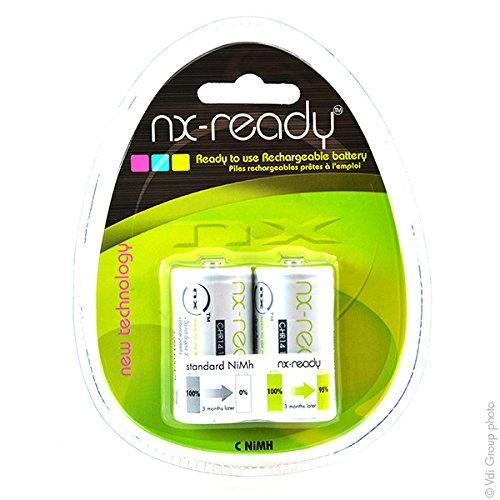 NX - Accus Nimh blister x2 C NX READY 1.2V 4000mAh - Blister(s) x 2