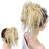 Best Hair Extension Ponytail Real Hairs - HMD Tousled Updo Messy Bun Hair Piece Hair Review