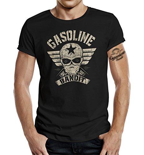 Gasoline Bandit Original Design Biker Shirt: Bandit Wing schwarz-XL