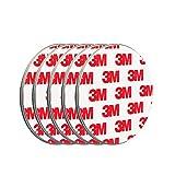 ECENCE Rauchmelder Magnethalter 5 Stück selbstklebende Magnethalterung für Rauchmelder Ø 70mm schnelle & sichere Montage ohne Bohren und Schrauben für alle Feuermelder und Rauchwarnmelder
