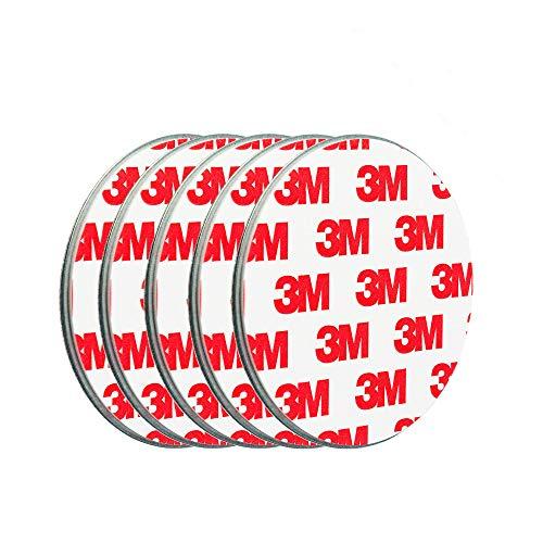 ECENCE Soporte magnético para detector de humo - 5 unidades soporte magnético adhesivo para detectores de humo Ø 70mm - Base sin taladros para detector humo y alarmas para casa contra incen