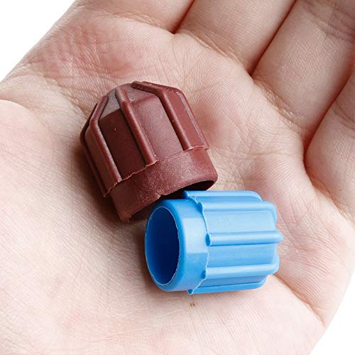 Yagoer ZZY-piezas del acondicionador, 1 par R134a Auto AC A/C Válvula Tapa Refrigerante Válvula Alta / Baja Tensión Cubierta de Polvo Mar28