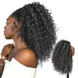 ENTRANCED STYLES Drawstring Ponytail Extensions Afro Puff Ponytail for Women Synthetic Afro Kinky Curly Hair 14 Inches Clip in Ponytail Hairpieces