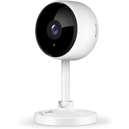 ネットワークカメラ littlelf 1080P 200万画素 ベビーモニター ペットカメラ 超広角 動作検知 暗視機能強化 双方向音声 猫/犬/子供/老人見守り 3年保証 クラウドストレージ 日本語取扱説明書(白)