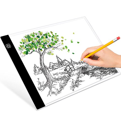 selizo A4 Tracing Light Box Tracer LED Tracing Pad with Light Box Stand and Tracing Paper for Diamond Painting Drawing Sketching Animation