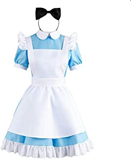 Womens Alice Costume Maid Dress Fairytale Dress Up M/L/Size