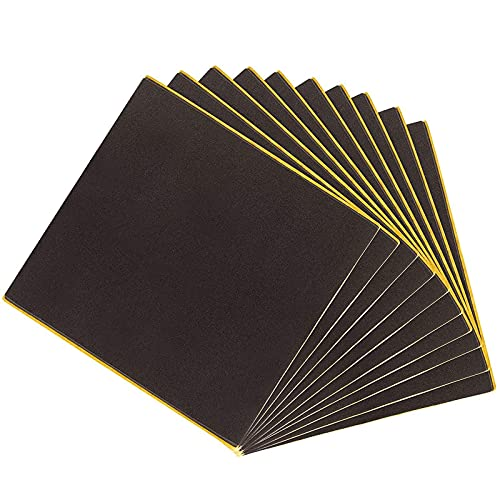 10-Pack 6mm Adhesive Rubber Neoprene Square Padding Sheets, 6 x 6 Inches
