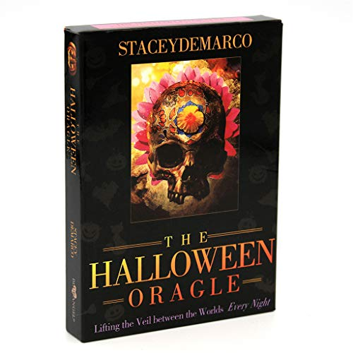 Bingxue The Halloween Oracle levantando el Velo Entre los Mundos Cada Noche Juego de Mesa de 36 Cartas para Fiestas Familiares