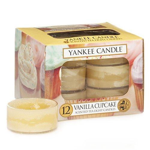 Yankee Candle Vanilla Cupcake Tea Light Candle, Food & Spice Scent