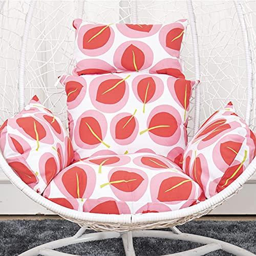 AMYZ Sedia a Sospensione a Forma di Uovo,Cuscini per sedili Profondi,Impermeabili,Lavabili con poggiatesta e braccioli per altalene da Interni e da Esterni