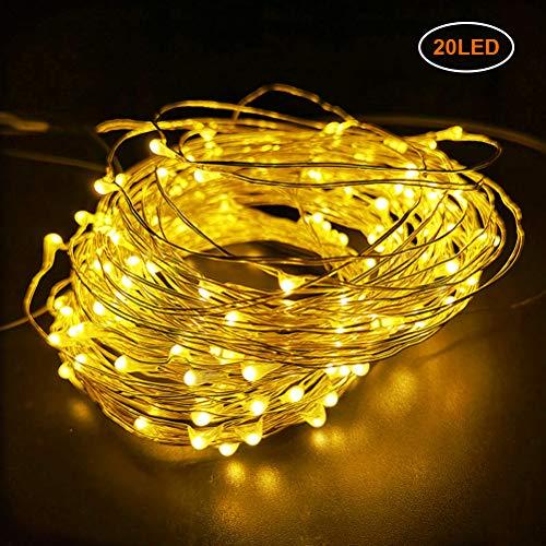Kylewo Guirnaldas LED en Cable Plateado, guirnaldas con Cable de 8 Modos guirnaldas LED Impermeables para Dormitorio, Navidad, habitación Infantil, Exterior, Fiesta, Boda, Bricolaje, etc.