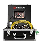 Rohrkamera, Video Inspektionskamera 20M Rohrleitung Entwässerung Wasserdicht IP68 Klempner Industrie Endoskop mit 7'' HD Monitor und 1000TVL CCD Sonde Profi-Kanalisationskamera (keine DVR-Funktion)