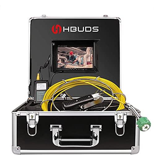 Rohrkamera, Video Inspektionskamera 20M Rohrleitung Entwässerung Wasserdicht IP68 Klempner Industrie Endoskop mit 7\'\' HD Monitor und 1000TVL CCD Sonde Profi-Kanalisationskamera (keine DVR-Funktion)