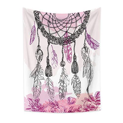 Miyapur Tapiz Atrapasueños Tapiz Vintage Bohemio Elegante Atrapasueños Cortinas de ventana Colcha Ropa de cama Tapiz étnico Regalo para niños 120x180cm