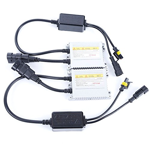 PolarLander 2Pcs 12V 35W Silver Black Xenon HID AC DC Ballast Pour Auto Phare Xenon HID ampoule lampe