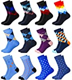 MC.TAM® Bunte Socken Strümpfe 6 Paar 90prozent Baumwolle Oeko Tex® Standard 100 Herren Damen Unisex, 43-46, 12 Paar Mix 3und6