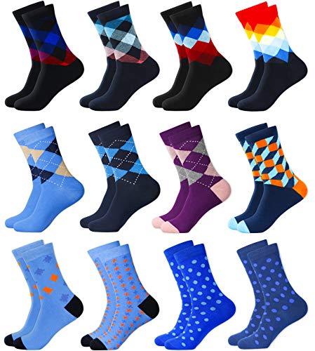 MC.TAM® Bunte Socken Strümpfe 6 Paar 90% Baumwolle Oeko Tex® Standard 100 Herren Damen Unisex, 43-46, 12 Paar Mix 3&6