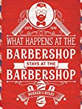 Barbershop Rules, Metallschild, 15 x 20 cm, Rot