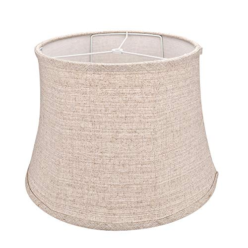 Tootoo Star Brown Large Drum Lamp Shade for Chandeliers Floor Light and Table Lamp, 12x16x11