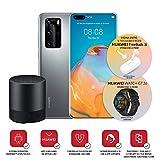 """Huawei P40 Pro con Bluetooth Speaker, Acoustic Display da 6.58"""", Quattro Fotocamere Leica da 50 + 40 + 12 MP e Sensore TOF, Kirin 990 5G Octa Core, Argento, Versione Italiana"""
