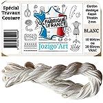 Jozigo Élastique Couture Masque - Tresse Cordon Façon Tricotin 2mm - Travaux de Confection - Loisirs Créatifs - par 10M 20M - Blanc (10 Mètres) #3