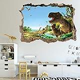 Pegatinas De Pared De Dinosaurios,Pegatinas de Pared 3D con Diseño de Dinosaurio,Adhesivos De Pared De Dinosaurio 3D Extraíble,Pegatinas De Pared Dinosaurio Bosque. (D)