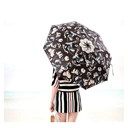 Sonnenschirm Sun Five Taschenschirm Regen Doppelnutzung Weibliche Sonnenschutz Ultraleichte Kleine Automatische UV-Schutz Mode Sonnencreme