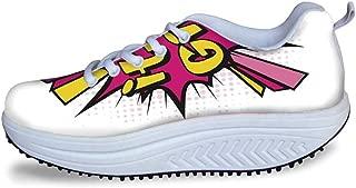 YOLIYANA USA Cool Shake Shoes,Retro American Auto License Plates Utah Washington Rhode Island North Carolina Print for Women,US Size5
