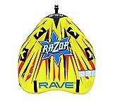 Rave Sports 1-2 Razor 2-Rider Towable Trick Tube, Yellow, Person