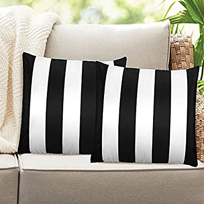 Homthumb Outdoor Pillow Covers 18x18 inch,Water...