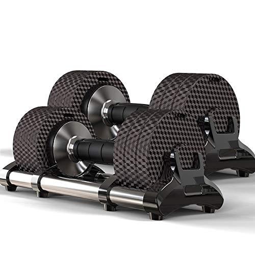 Verstellbare Hanteln Set von 2, Powerblock-Hanteln, Gewichten Sets Hanteln, für Männer und Frauen Home Fitness Gewicht Set Fitnessstudio Training Trainingsständer Dumbell Rack